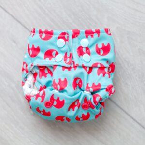PUL-Überhose für Neugeborene mit Druckknöpfen